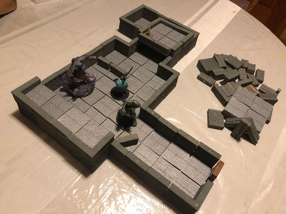 3d dungeons and dragons terrain modular
