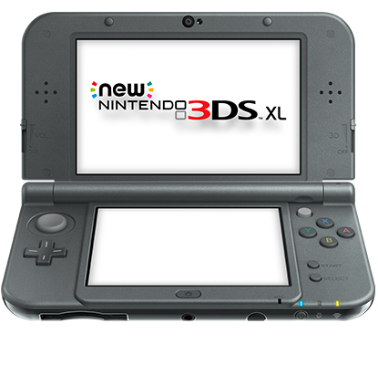 3ds new black front
