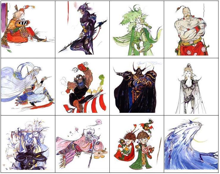 final fantasy 4 art