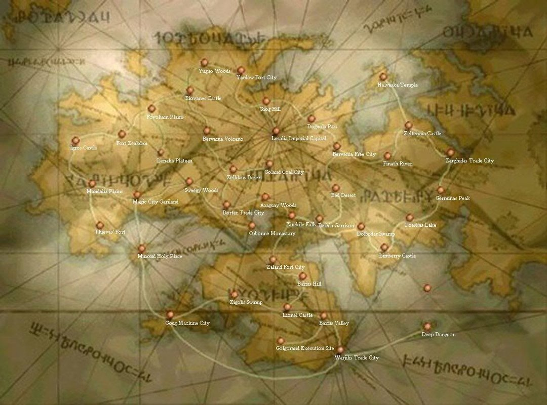 final fantasy tactics world map