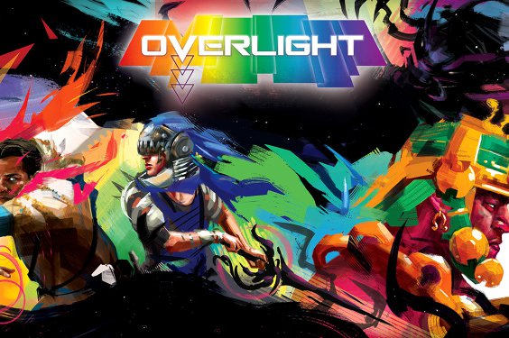 overlight editorial header