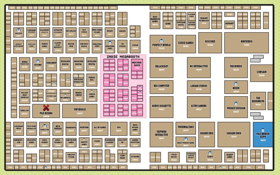 pax east 2020 expo hall map 1