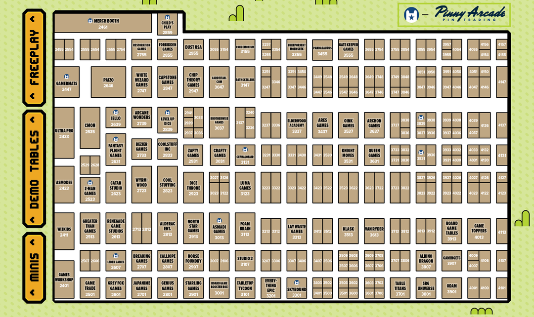 pax unplugged 2019 expo hall floor plan