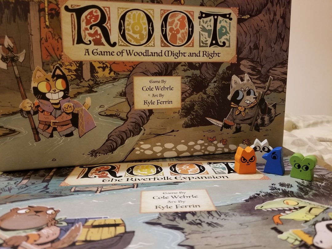 root cover art and meeples