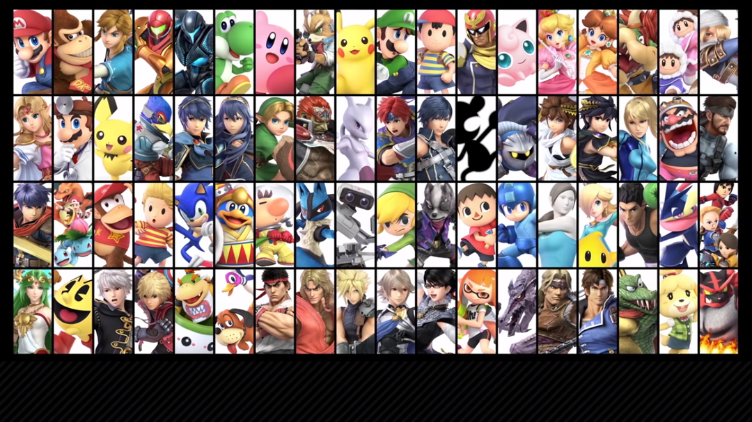 super smash brothers ultimate roster